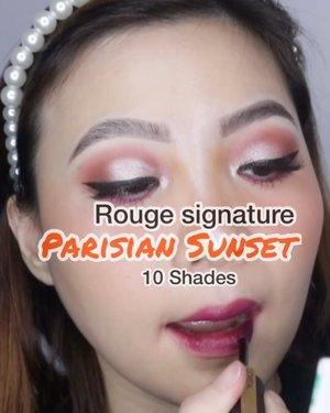𝐋'𝐨𝐫𝐞𝐚𝐥 𝐏𝐚𝐫𝐢𝐬 𝐏𝐫𝐞𝐬𝐞𝐧𝐭𝐬 𝐑𝐨𝐮𝐠𝐞 𝐒𝐢𝐠𝐧𝐚𝐭𝐮𝐫𝐞 𝐏𝐚𝐫𝐢𝐬𝐢𝐚𝐧 𝐒𝐮𝐧𝐬𝐞𝐭  Yang udah nyobain pasti ngerti gimana ringan formulanya, dan warna2nya cakep buat daily. 𝐌𝐀𝐍𝐀 𝐒𝐇𝐀𝐃𝐄 𝐅𝐀𝐕𝐎𝐑𝐈𝐓𝐄 𝐊𝐀𝐌𝐔? . . . #ownyoursunset #gorougesignature  @getthelookid . .  #beautygoersid #instamakeup  #makeuptutorial  #beautyenthusiast  #100daymakeupchallenge #makeupfeed #unleashyourinnerartist #creativemakeup  #makeuptutorial @setterspace @tampilcantik  @cchanel_beauty_id @tips_kecantikan  @popbela_com  #makeuplooks #wakeupandmakeup #clozzeteid #sigmabrush #clozetteid #slave2beauty #wake2slay #eyeshadowtutorial  #amrezyshoutouts #undiscovered_muas #inssta_makeup #makeupaddict #featuremuas #morphebabe #beautyunderyourinfluencer