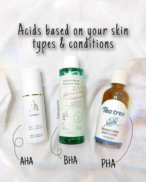 Which one suits your skin best?  Aha : kulit normal - dry (Alpha H @theskindarling ) Bha : kulit oily ( @axisy.indonesia ) Pha : kulit sensitive (@skinfoodindonesia )  Kenapa aku jg blg berdasar skin condition juga, karena kadang kulitku yg harus nya pake AHA, malah lebih nyaut kalo pake BHA 💁🏻♀️    Untuk penjelasan komplit nya ditunggu besok yaa!!!    . . .     #beautygoersid #instamakeup  #makeuptutorial  #beautyenthusiast  #100daymakeupchallenge #makeupfeed #unleashyourinnerartist #creativemakeup  #makeuptutorial @setterspace @tampilcantik @tiktokofficialindonesia @cchanel_beauty_id @tips_kecantikan  @popbela_com  #makeuplooks #wakeupandmakeup #clozzeteid #sigmabrush #clozetteid #slave2beauty #wake2slay  #amrezyshoutouts #tiktokindonesia #undiscovered_muas #inssta_makeup #berbagiskill #tiktokindonesia #tiktok #samasamadirumah 