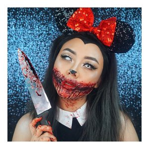 Meeska Mooska Mickey Mouse.. Sorry, Mickey made me do it! 🔪 Happy Bloody Halloween Guys! . . #halloweenmakeup #halloween #disney #minniemouse #minniemousemakeup #disneyhalloween #sfx #halloween #halloween2017  @indobeautygram  #indobeautygram #indobeautyvlogger #indobeautyinfluencer #instabeauty #femaledailynetwork #beautynesiamember #clozetteid #dailygirlsfeed #universomakeup #wakeupandmakeup #universodamaquiagem_oficial #undiscovered_muas #bretmansvanity #featured_my_makeup_art #makeuplover #makeupenthusiast #beautyenthusiast  #wakeupandmakeup #instamakeup #instadaily
