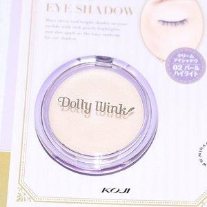 One of my beauty haul from Hokkaido, Dolly wink cream Eyeshadow 02 Pearl 💙💖 #clozetteid #dollywink #hokkaido #sapporo #makeupflatlay #flatlay #miharujulieblog #miharujuliereview #miharujuliephotography