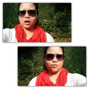 Independence day on Sunday. It called for a lazy day saviour called sunglasses. No make up, sunscreen only. No filter necessary, it's all the sunshine. #Aviary #InstaMagAndroid #MerahPutih #ClozetteID #Clozette #Fashion #FashionGirl #IndependeceDay #Accessories #Glasses
