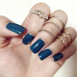 #nailcolor #teal #ring