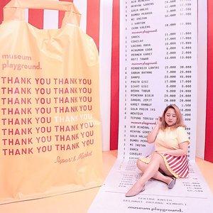 "Sayin' "" Thank you, Next. "" to all negative thing things last year ✨📍 @museum.playground .📸 @tiaranab_ #BodyplusIcel#BajuHaramIcel#museumplayground#goodplaceid #clozetteid #positivevibes"