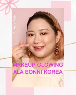 Alooow! Kali ini make up look nya ala eonni korea yang super glowing nan hinyaii 💖✨Produk yang aku pake juga brand-brand favorit aku dari kuriyaa 🇰🇷 Sudah cocokah aku jadi eonni? 🙈🙈 Deets:✨ @clioindonesia Kill Cover Cushion - 04 Ginger✨ @toocoolforschool_official Artclass by Rodin✨ @itsskin_official_id Mystery Peach Blush - 01✨ @itsskin_official Mystery Peach Highlight - 01✨ @indonesia_etudehouse Drawing Eyebrow ✨ @itsskin_official Lifecolor Combo - 02✨ @banilaco_id @b.bybanila_official Eyecrush Sparkle Pigment - PK01 Pink Me✨ @clio_official Mad Matte - 08 Chai Tea Latte✨ @banilaco_official @b.bybanila_official Lipdraw Melting Serum Stick - SPK03 Rose Falling#GiselaVideo#indobeautysquad @indobeautysquad #makeuptutorial #ragamkecantikan #tampilcantik @tampilcantik @ragam_kecantikan @tutorialmakeupkece