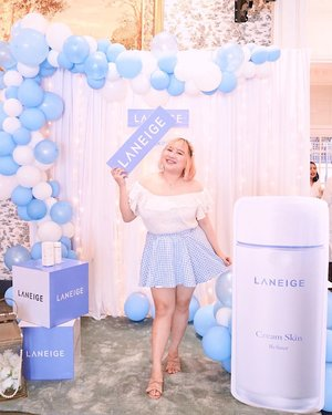 Welcoming Cream Skin Refiner the newest product from @laneigeid family💞Combining a cream & toner into one product is perfect for a lazy girl like me! With White Lead Tea Water for your Skin Barrier. Its moisturized and protect in the same time! 🥰🥰Get this only at @lazada_id 🍃.#BodyPlusIcel#BajuHaramIcel @clozetteid  #ClozetteIDxLaneige #LaneigeIndonesia #CreamSkinRefiner#ClozetteID