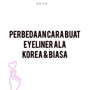 Perbedaan Cara Eyeliner Korea (Ikonik) sama yang Biasa🥺  Kenapa gw kasih ikonik, karena skrng eyeliner ala korea banyak tipenya. Tapi yang paling fenomenal dan msh banyak dipake style msh sama, yaitu eyeler ala ke bawah.  Eyeliner ke bawah ini ngebuat mata kita sayu, jadi kek puppy atau anak anjing. Kalau di Korea dibilang matanya kek puppy artinya imut, eyeliner tipe ini juga ngebuat mata kalian lebih gede (supaya keliatan lebih gede, kalian bisa gamabr eyeliner pencil di mata bagian dalem), dan lbh keliatan muda.  sedangkan kalau ke atas ngebuat mata kalian lebih tajam dan tegas, jadi lbh mirip kucing (sejenis bentuk mata Yeji ITZY, Sohee WG). Supaya lbh Korea lagi look-nya, coba buat Aegyosal atau kasih glitter aja di bawah mata sampe bagian tengah.  Aku gak tau ya, gaya eyeliner ini bakal cocok untuk semua orang apa engga. Tapi ga ada salahnya untuk dicoba🥰  #makeupvideos #eyelinertutorial #eyelineronpoint #eyelinerkorea #motd #eyemakeup #clozetteid #beauty #makeup #wakeupmakeup #tampilcantik @tampilcantik #cchannelbeautyid @cchannel_beauty_id #beautynesiamember #beautiesquad #indobeautysquad #beautybloggerindonesia