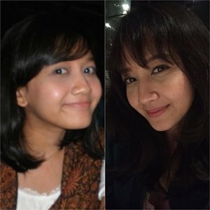 Going mainstream with #10yearschallenge .. 2009 vs now.. I do miss my chubby cheeks 😄#clozetteid