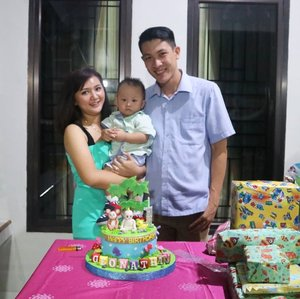 Udah gede ni @geonathanmosha 🥰🥰.Doa yang terbaik selalu, selalu jadi kebanggaan ke 2 orang tua kamu ya..🤗🤗.#clozetteid #birthday #1stbirthday