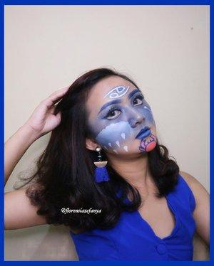 🤭🤭Makin semeraut nih muka 🤣😅 . #clozetteid #artmakeup #makeupkarakter #makeup #cancer #cancerzodiac #cancersign #zodiac #zodiacsigns #zodiacsign #makeupzodiac