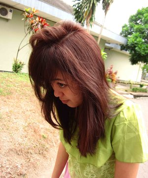 Red hair don't care! Hahahaaa. #redhair #treatment #happyhair #throwback