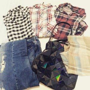 So ready for today theme #plaid #ClozetteID #fashionfriday 😁