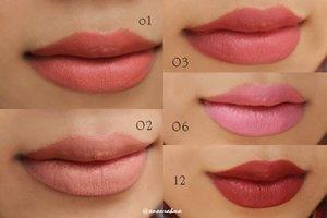 ini koleksi @wardahbeauty longlasting lipstick... ingin melengkapi semua shade tapi semenjak wardah mengeluarkan seri2 lipstick yang baru, rasanya beli longlasting lipstick akan percuma, warnanya jadi terlihat jadul gitu... belum lagi teksturnya... . . no 01 dan 02 warnanya sih oke, teksturnya sangat kering susah diblend. . no 03 warna bagus tekstur ok ;) . . no 06 :( warnanya enggak banget, mirip neon. teksturnya agak kering. . no 12 B-) ini warnanya bold, merah agak gelap, suka banget cuma jarang dipakai keluar, teksturnya bagus pula. . dari kelima ini paling suka no 02, tapi kalau tekstur 03 dan 12. kalau harus pilih satu aja, saya pilih no 12 aja deh hehehe xD #clozetteID #lipstick #makeup #wardahlipstick #wardahlonglasting #fff