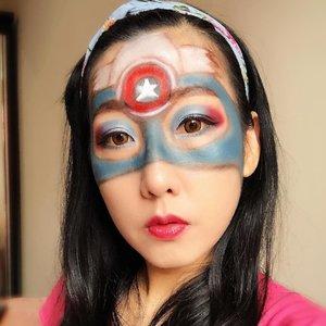 Ikutan yuk giveaway dari @pac_mt caranya hanya bikin makeup bertemakan Superhero Challege.Hadiahnya lumayan banget lho terutama IRT kayak aku yang butuh banget amunisi tambahan alat perlenongan biar tambah kreatif 🤣🤣 Tema aku kali ini : Captain AmericaKarena lagi nunggu2 Avengers Movie sebelum mulai mari dibikin dulu 😊#PacSuperHeroChallenge#xPacTation#PacMarthaTilaar#clozetteid