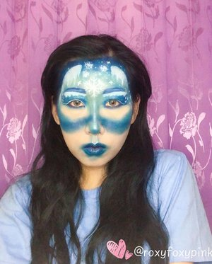 "Winter Makeup Look Inspired by Pinterest and Google.Eyeshadow, brow, lips@nyxcosmetics_indonesia Jumbo Pencil ""Milk""@beautyglazed ""Color Studio & Neptune"" @nyxcosmetics_indonesia ""Waiting for Tonight"".Face painting - eyeliner & snowflakes @imagiccosmeticsSoflens @japansoftlens ""Neoluna Grey"".Complexion @drjart_id @revlonid @silkygirl_id.Glitter - China BrandLipgloss @bourjois_id ...#wintermakeuplook #snowflakesmakeup #wakeupandmakeup #beautybloggerindonesia #clozetteid @clozetteid"
