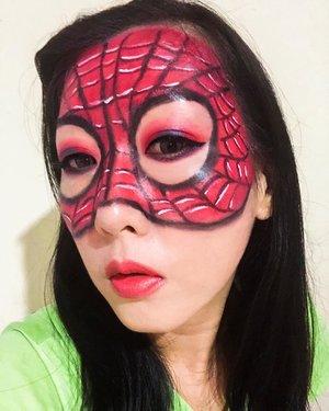 Ikutan yuk giveaway dari @pac_mt caranya hanya bikin makeup bertemakan Superhero Challege.Hadiahnya lumayan banget lho terutama IRT kayak aku yang butuh banget amunisi tambahan alat perlenongan biar tambah kreatif 🤣🤣 Tema aku kali ini : SpidermanKarena lagi nunggu2 Avengers Movie sebelum mulai mari dibikin dulu 😊Product Pac yang aku pake untuk create makeup look ini adalah eyeliner & eyebrow pencil nya PAC #PacSuperHeroChallenge#xPacTation#PacMarthaTilaar#clozetteid
