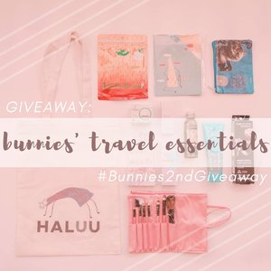 • GIVEAWAY TIME •We are back with another giveaway! Besok, @mgirl83 dan @deuxcarls bakal travelling ke Thailand nih 🇹🇭 Kayaknya nggak asing lagi deh kalau travelling itu merupakan hobi kita. Nah, kali ini kita mau GIVEAWAY our travelling essentials, alias perlengkapan perang kita untuk travelling cantik 💄✨ .✈️Hadiahnya:• @haluuworld Tote Bag• @haluuworld Notes• @eminacosmetics Cat Pouch• @face2face Mini Brush Set• Shobi Deco Nails• @purbasarimakeupid Metallic Lipstick• @pixycosmetic Facial Wash• @pixycosmetic Day Cream• @wardahbeauty Moisturizer• @ovalebeautyid Olive Body Oil• @watsonindo Hair Mascara• Limited Edition @lululun 7-day Mask .✈️Rules-nya gampang banget:1. Follow @deuxcarls, @mgirl83, dan @stingybunny (obviously, and don't unfollow after the giveaway or Imma block ya!)2. Repost foto ini, cerita di caption dong kenapa kalian butuh Travel Essentials dari kita ini! Jangan lupa pakai hestek #Bunnies2ndGiveaway dan tag 3 akun diatas.3. Komen 🇹🇭 di post ini kalo sudah selesai semua step diatas yaa!!.✈️** Post yang dihitung adalah post di AKUN PERSONAL (not online shop/giveaway account/etc) dan JANGAN DIPRIVATE!! Giveaway ini berlangsung sampai 18 Juli 2019, 00:00 WIB. Pengumuman pemenang bakal melalui IG Story kita tanggal 20 Juli 2019 ✨🎉.✈️#giveaway #giveawayindonesia #giveawayid #bagibagihadiah #hadiahgratis #makeupgratis #giveaways #clozetteid #infogiveaway #sbybeautyblogger #bloggerceria #beautynesiamember #blogger #bbloggerid #beautybloggerindonesia #beautybloggerid #influencer #beautyinfluencer #makeup #beauty #freeproducts #fashion #surabayabeautyblogger #travelessential #bloggerperempuan #produkgratis #gratisan