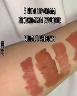 5 favorite nude lip products versi akuu.. 😆1. @blpbeauty Lip Bullet - Biscotti2. @maybelline Sensational Liquid Matte NU013. @xixiucosmetic Matte Lip Cream - 1114. @roulas.official Matte Lip Cream - Batari5. @dearmebeauty Perfect Lasting Lip Tint - Dear Kezia 🎶 What you know bout love - Pop Smoke (Christian Lalama Remix) #clozetteid #nudelipcream #nudelipstick
