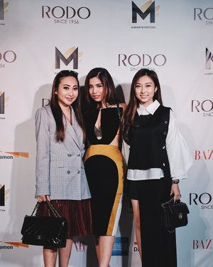 Yesterday attended @rodosince1956 X @masari_ind @shopatmasari F/W 2017 Preview featuring Fashion Show Ready to Wear Collection by @sean_sheila with handbags and shoes from RODO 👛👡 _ Thank you cici @amandaakohar for inviting! 😚 #clozetteid #rodoxmasarishop