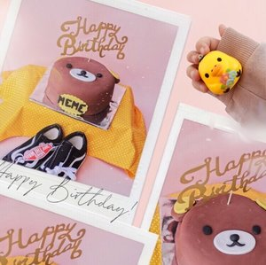 Happy birthday, Angel-lita, nak haipbis hati rillakuma 🎁🧸🎂 @customcakesurabaya ..#clozetteid #birthdaycake