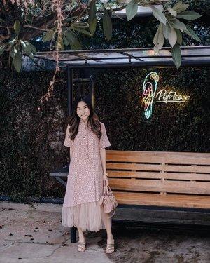 —— stay safe & stay healthy everyone 💖 . dress @eightbylabel8 @label8store  heels @kelynclare 📷 @vickyyuwono 📍 @petrichor.cafe . . . #clozetteid #lookbookindonesia #ootd #ootdindo #lookbookootd