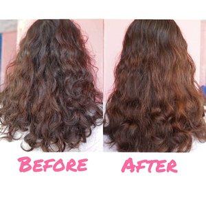 Setelah pemakaian produk @heydeuxyeoza_official Rapunzel Hair Day & Night  Sebelum pemakaian rambut sangat kering, mengembang parah, susah diatur. Setelah pemakaian rambut menjadi lebih sehat da lebih mudah diatur.  Beli dimana? https://hicharis.net/niiasantoso/4Kt atau klik link di bio  Full review? www.niiasantoso.com  #rapunzelhair #heydeuxyeoza #chariscelebedition #charisceleb #charis @charis_official @charis_indonesia #clozetteid #indonesiabeautyblogger #beautiesquad #beautyblogger