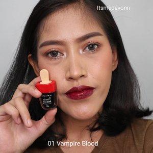 Ini adalah Swatches untuk Implora Lip Tint by @imploracosmetics 01 Vampire Blood 02 Cherry Bomb 03 Candy Apple 04 Red Wine 05 Cranberry 06 Pumkin  Price : around 15K  Packagingnya lucu dan menarik  Warna warna yang ada ini dimulai dari hint Orange,  merah dan magenta.   Lip tint ini cukup Pigmented dan pas untuk kulit wanita Indonesia.   Siapa yang udah pernah coba,  sok komen ya....   #lipstick #implora #imploraliptint #swatchesliptint #review #clozetteid