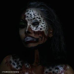 My look for @nyxcosmetics_indonesia  #bringouttheboo . I recreated @annalingis  CRUELLA DE VIL FROM 101 DALMATIONS  @querramellca @cittaf . . . @muwhaley @bycleoputri Ayo ikutan #bringouttheboo #botb #clozetteid #makeup #helloween #love