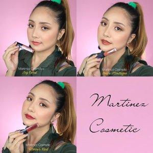 @martinezcosmeticofficial Matte Fix Lip Cream 💕.PREVIOUS POST➡➡➡Untuk video review & swatchesnya ya ...😘..Mana warna favorite kamu??😍😁..  #martinezcosmeticofficial #thecelebritymakeup #martinezcosmeticvideoreviewcompetition#fdbeauty  #clozetteid  #ivgbeauty #makeupclips  #tampilcantik  #makeuptips #indobeautygram  #indovidgram #makeupvideo #lagirlindonesia #bvloggerid #kbbvfeatured #beautybloggerindonesia #muablora  #ragamkecantikan #koreanmakeup #lipswatches