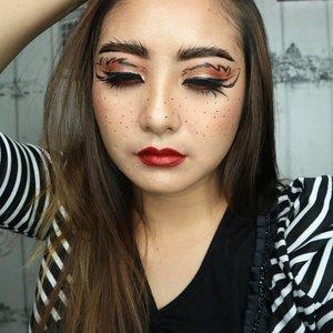 ✨ Doodling final result 😂 . . #eotd #fdbeauty  #clozetteid  #makeupartistworldwide #maybelline  #anastasiabrows #ivgbeauty #makeupclips  #nyxcosmetics #lookamillion #makeuplover #wakeupandmakeup #dressyourface #indobeautygram #makeupaddict #makeupgeek #amazingmakeupart #anastasiabeverlyhills #belajarmakeup  #tutorialmakeup #makeupvideo #beautyguruindonesia #makeuptips  #suvabeauty #beautygram #beautyvlog #hypnaughtymakeup #instamakeup #nyxcosmeticsid