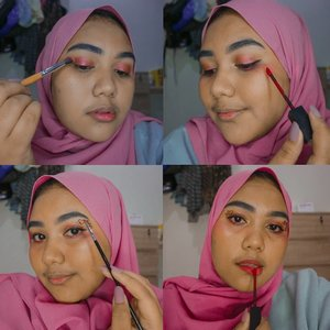 Selamat hari bahagia 😍 everyday is a happy day rightttt?Ada kolaborasi me'ap love love bareng @beautiesquad niyyyy 💕Product used :💕 @eminacosmetics bb cream💕 @purbasarimakeupid powder & lipcream💕 @esqacosmetics blush & eyebrow💕 @mizzucosmetics coffee break lipcreamJadiii 💕 diatas mata gue gambar pake eyeliner terus isi pakai lipcream purbasari yang warna merah, terus timpa pakai glitter shadow dari palet @focallure 💕💕--Ada juga @tiaranab_ yang bikin 💕 makeup super canciksss 💫 go check her out!#Beautiesquad #BSFebCollab #BSCollab #BSValentine #HeartsMakeup #ValentineMakeup #clozetteid #makeuplook