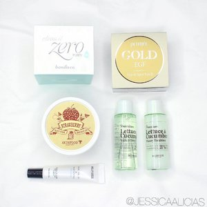 My recent purchase from @altheakorea ❤️ . • @banilaco_official Clean It Zero Purity • @petitfee_koelf_official_eng Gold EGF Eye & Spot Patch • @skinfood_official Strawberry Black Sugar Mask • @milkydress_official Wrinkle & Whitening eye cream • @skinfood_official Lettuce & Cucumber watery toner and emulsion (these are bonus from them, thank you!) // I seriously love shopping with Althea, because their products is 100% guaranteed original from Korea. The shipping and payment process are really easy and pretty fast as well! 💖 Which one do you want me to review first?? 🙋🏻 . . . . #clozetteid #jessicaalicias #jessicaaliciasfaves #beautytips #stylehaul #ggrep #altheakorea #althea #skinfood #milkydress #petitfee #banilaco #beautynesia #beautybloggerid  #indonesianbeautyblogger #indonesianfemalebloggers #indonesian_blogger #bloggerceria
