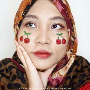 #MakeupLookbyTami CHERRY ON TOP 🍒.Ib @jamescharles.#facepainting #makeupart #cherrymakeup #fruitmakeup #undiscovered_muas #100daysofmakeup #makeupkarakter #ClozetteID