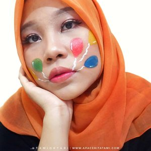 Untuk #MakeupLookbyTami kali ini udah pernah aku share beberapa bulan lalu ya #BirthdayMakeup. Tapi belum aku share produk apa aja yang digunakan😋✌.Products i used 👇🎈@catrice.cosmetics HD Liquid Foundation shade 040 Warm Beige🎈@marckscosmeticind Bedak Tabur shade Natural🎈@ltpro_official Shade & Tint Kit 02🎈@zoyacosmetics Blush On shade Sephia🎈@mobcosmetic Pro Brow Sculptor shade Wood🎈@riveracosmetics Eyebrow Pencil shade Brown🎈@beautycreations.cosmetics Eyeshadow Palette Irresistible🎈Eyeliner lupa pakai merk apa 🤣🙏🎈@meisabulumata Betrice🎈@pac_mt Satin Lipcream shade Misty Chocolate🎈@dissy.id Lipcream shade Sherly🎈@justmiss_id Lipgloss shaee Sandstone🎈@viva.cosmetics Body Painting Red, Yellow, Green, Blue & White.#Beautiesquad #BeautygoersID #kbbvfeatured #RangerRatjun #BeautyRangerID #beautybloggerindonesia #pkubeautyblogger #indobeautysquad #bloggerceria #JBBFeatured #beautysecretsquad #indonesiabeautyblogger #HijabersBeautyBVlogger #bloggirlsid #setterspace #bloggerperempuan #bloggermafia #clozetteid