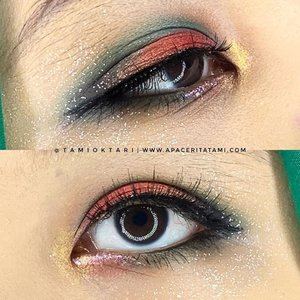 Ini detail #EyeMakeupbyTami di collab ku bareng @pkubeautyblogger kemarin ya yang tanpa disadari kok warnanya ya mirip semangka😆🍉.Products I Used@beautycreations.cosmetics Eyeshadow Palette@okalancosmeticos 32 Color Palette@lakmemakeup Eyeliner@wardahbeauty Mascara@focallure Luxury Electric Glow Glitter@meisabulumata 'Ruby'@pac_mt Eyeshadow Pencil.Memang di setiap eyemakeupku itu produknya hampir semuanya sama karena 1 palette eyeshadow aja warnanya banyak jadi bisa dikreasikan sesuka hati.#eyemakeuplooks #makeuptutorial #boldeyemakeup #grungeeyemakeup #smokeyeyeshadow #undiscoveredmuas #100daysofmakeup #ClozetteID