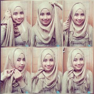 Nude color hijab tutorial@tutorialhijab