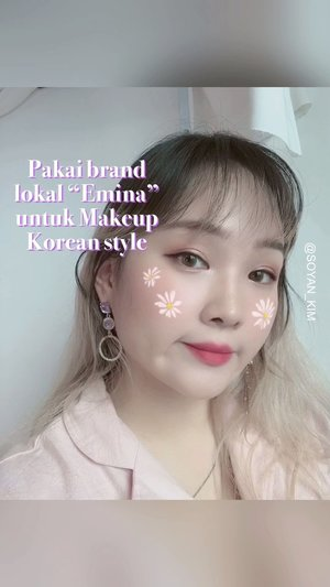 여기 현지 메이크업 제품들로 한국식 메이크업 해보기!Pakai brand lokal untuk Makeup daily korean style!Someone say right answer! Yes i do One brand makeup @eminacosmetics 💜All items i choose from them and you need only few items with affordable price 😆-BB cream: Rp.34,000Bare with me: Rp.53,500Eye brow: Rp.84.000Eye shadow: Rp.41,500Eye liner: Rp.63.000Lipstick: Rp.60,500-#koreanmakeup #onebrandemina