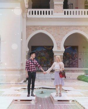"""저희 투샷 어떤가융? 뭔가 저기서 손잡고 찍어야할거 같아서리~💓 #럽스타그램 #커플스타글램 - Happy Monday with So Han couple guys🤩 Guys, kira"""" foto couple kita dapat score brapa yah? 💯"""