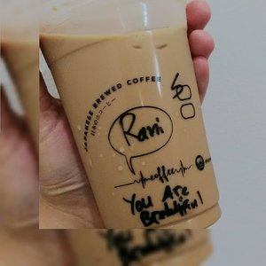 narsis amat tulisannya, wkwk..#clozetteid #coffee #strawberry #strawberrycoffee #coffeeshop #enak