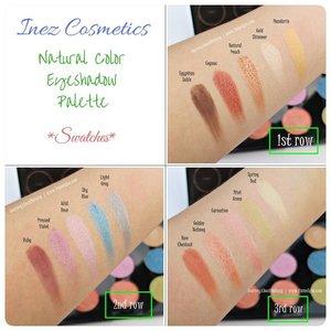 #eyeshadowlokal dari @inezcosmetics ini luar biasa pigmentasinya. Ini adalah swatch Natural Color Eyeshadow Palette.  review lengkapnya mampir ke www.liamelqha.com atau cari bit.ly/Lia-InezEyeshadow. ***** #Beautiesquad #InezCosmetics #BeautiesquadxInez #ClozetteID #blog #liamelqhadotcom #JourneyAboutMakeup #blogging #blogger #bloggingmom #BloggerPerempuan #KEB #KumpulanEmakBlogger  #IndonesiaFemaleBlogger #SociollaBlogger #KBBVmember #batambeautyblogger #batamblogger #indonesiabeautyblogger #beautybloggerindonesia #review #tips #tutorial #beautyjunkie #beautyenthusiast #makeupjunkie #makeupenthusiast