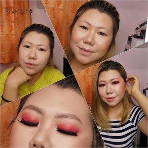 JANUARY 2020 @beautiesquad MONTHLY MAKEUP COLLAB  COLOR OF DECADE  Dari 2010-2019 Pantone Color, aku memilih Pantone Color Tahun 2012, yaitu TANGERINE TANGO. Kenapa? Biar bisa jadi inspired look buat Chinese New Year juga. Hahaha. Pictorialnya dimulai dari - Foundation pake @madame.gie bb foundation - denude - @fanbocosmetics Acne Solution Loose Powder -Translucent - Bronzer, Blush On, Highlighter pake @esqacosmetics The Goddess Cheek Palette - Aphrodite - Alis pake @maybelline define and blended brow pencil - Eyeshadow pake @beautyglazed Mars Palette - Eyeliner @otwoocosmetics - Lips @indoganic_official Lip and Cheek Crayon Natural Nude  @inabunaa kali ini ikutan Collab juga loh. Sepertinya pake pantone Violet. Eh, daripada salah cek postingannya ajah. Biar tau juga produk apa yang dipake 😁  Ada produk fav kamu ga?  #Beautiesquad #BSJanCollab #BSCollab #BSColorofTheDekadeMakeUpCollab #ColorofDecade #liamelqhatuts #JourneyAboutMakeup #liamelqhadotcom #ClozetteID #KBBVmember #IndonesianFemaleBloggers #BloggerPerempuan #batambeautyblogger #jakartabeautyblogger #wakeupandmakeup #CNY2020 #chinesenewyearmakeup