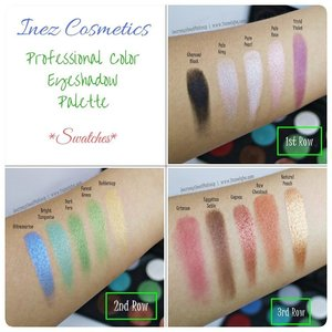#eyeshadowlokal dari @inezcosmetics ini luar biasa pigmentasinya. Ini adalah swatch Professional Color Eyeshadow Palette.  review lengkapnya mampir ke www.liamelqha.com atau cari bit.ly/Lia-InezEyeshadow. ***** #Beautiesquad #InezCosmetics  #ClozetteID #blog #liamelqhadotcom #JourneyAboutMakeup #blogging #blogger #bloggingmom #BloggerPerempuan #KEB #KumpulanEmakBlogger  #IndonesiaFemaleBlogger #SociollaBlogger #KBBVmember #batambeautyblogger #batamblogger #indonesiabeautyblogger #beautybloggerindonesia #review #tips #tutorial #beautyjunkie #beautyenthusiast #makeupjunkie #makeupenthusiast