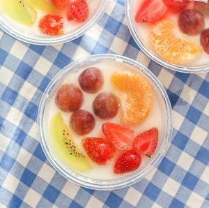 Homemade Fruit Milk Pudding 🍮...#clozetteid #pudding #handmade #puddingbuah #homemade