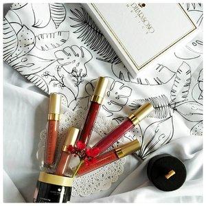 I bet I can't get enough of lipstick, well, lip cream. #poppydharsonocosmetics #confidentcolorcare #clozetteid #localbrand #lipstickaddict #whitetable