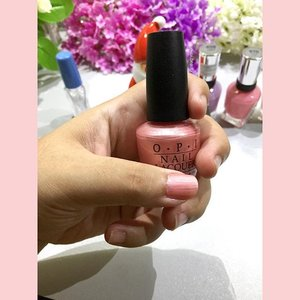 Here is how the #Opi #NailLacquer - Royal Flush Blush looks like ☺️ my fave color of all time 💕 #bellereneebeauty #day4 Year End Favorite - #nailpolish 💅 #jovialbeauty16 #clozetteid #nail #nailcolor #beauty