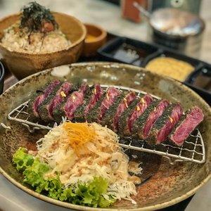 Rewarding myself with this super yummy Gyu Katsu😋 . . #clozetteid #foodies #steak #food #foodporn #instafood #instafoodies #gyu #gyukatsu #foodphotography #foodie #foods #beef #beefsteak