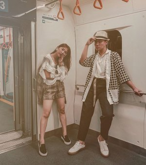 Missing my first time and photoshoot at @mrtjkt with @evelynegabriella . Definitely would do this again. By the way, siapa yang sampe sekarang belom naik mrt? – 📸. @dionelvn . . . . . #mrtjakarta #throwbackshoot #dandystyle #lookoftheday #lookbooker #lookbookindo #menstyleindonesia #asianmenstyle #ourlookbook #lookbookdiaries #clozetteid #theshonet