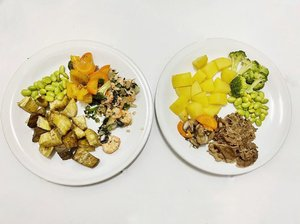 Her & His Meals for Iftar What's yours? #clozetteid #iftar #ramadhan #homemade #veggies