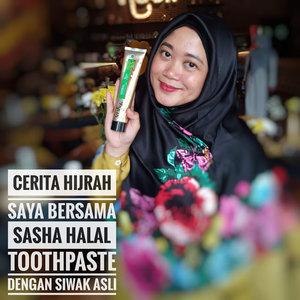 Cerita Hijrah Saya Bersama Sasha Halal Toothpaste Dengan Siwak Asli