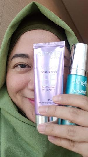 Review Clinelle Whiten Up EE Cream dan Clinelle PureSWISS Hydracalm Serum
