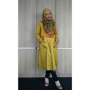 So in love with this dress from @houseof_olv by @manda_olv #clozetteid #ootd #hootd #clozettehijab #yellow #hijab #hijabootdindo #hijabstyleindonesia #hijabfeature_2015